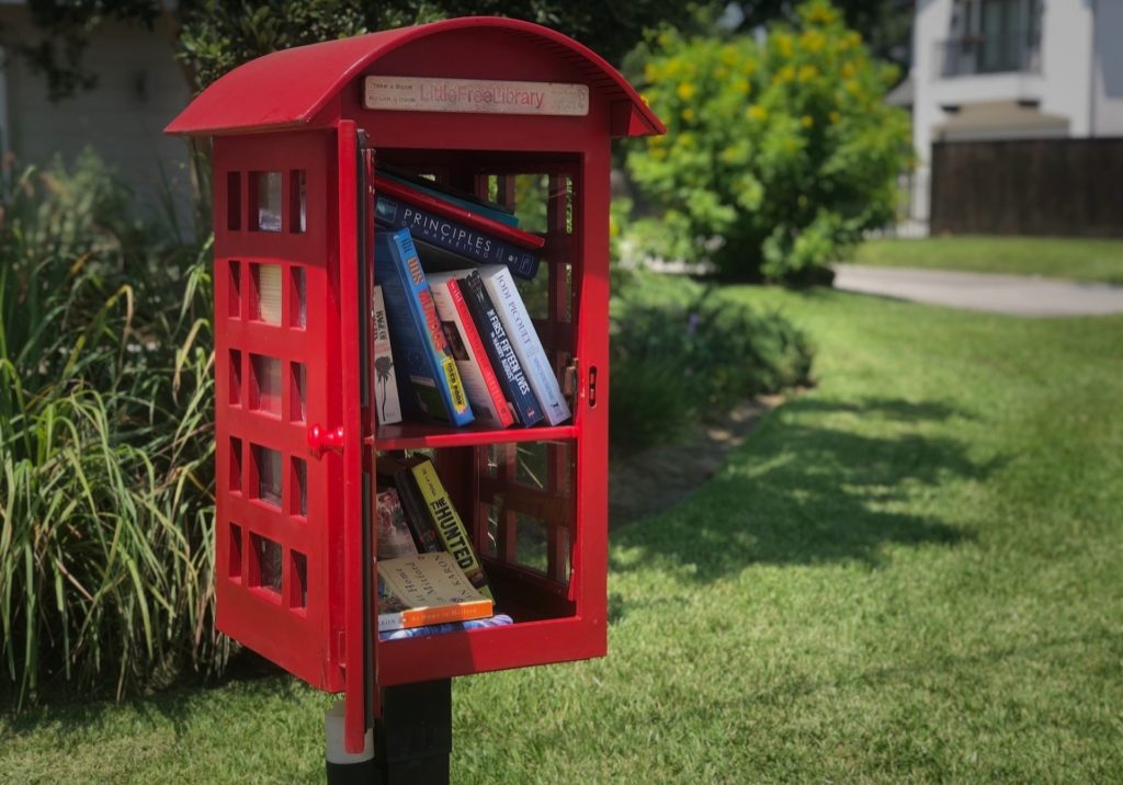 Little Free Library on Shadyvilla